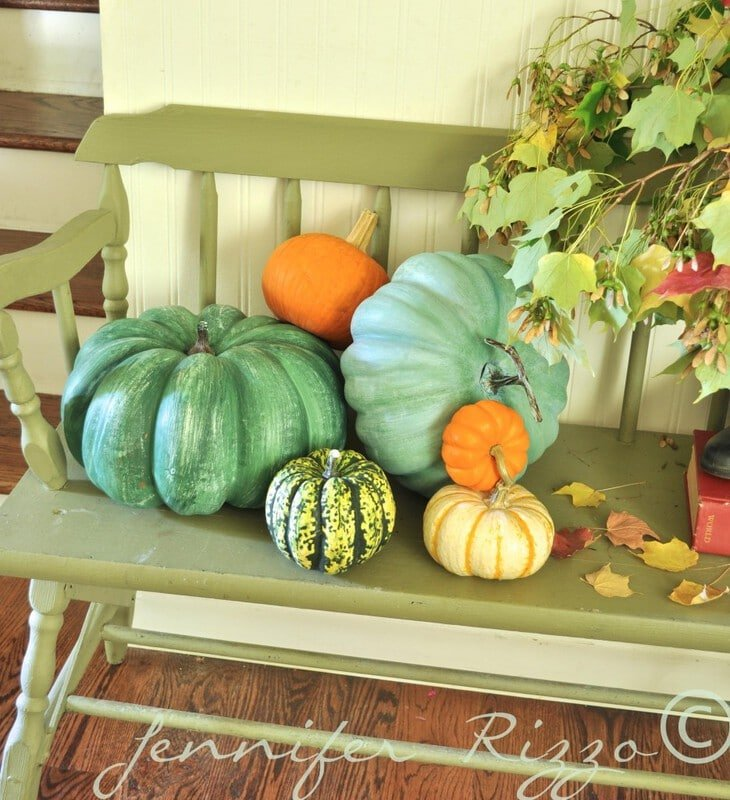 make fake pumpkins look real