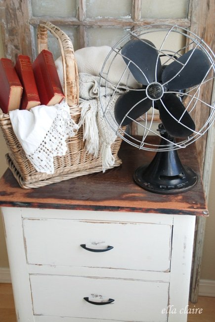 Super-cute $5 nightstand makeover….