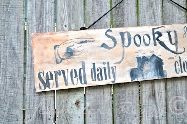 Make a super spooky wood Halloween sign with your inkjet printer