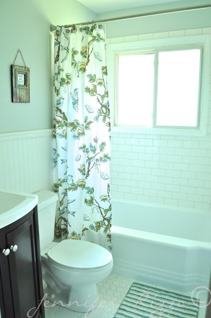 The Oak house project full bathroom renovation clean and bright subway tiles