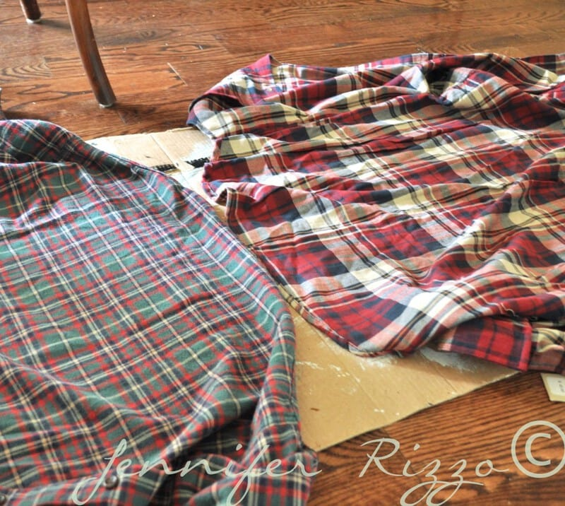 How to make an oak leaf banner from plaid shirts