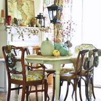 Bohemian fall dining room