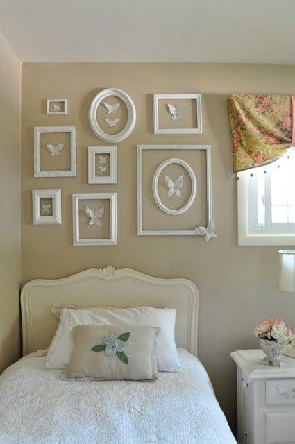 My butterfly inspired girl's bedroom…..