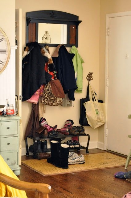 How to build an organized mud room/front entry for $25.00…