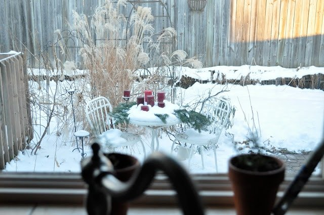 A holiday view from a window……
