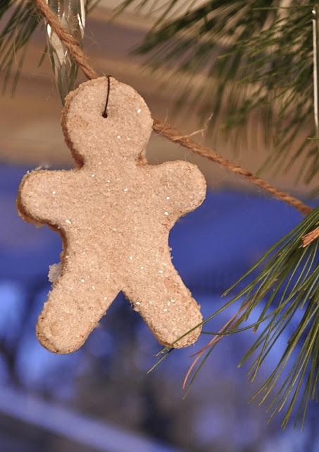 Glittermen….Pumpkin pie scented salt dough ornaments…..