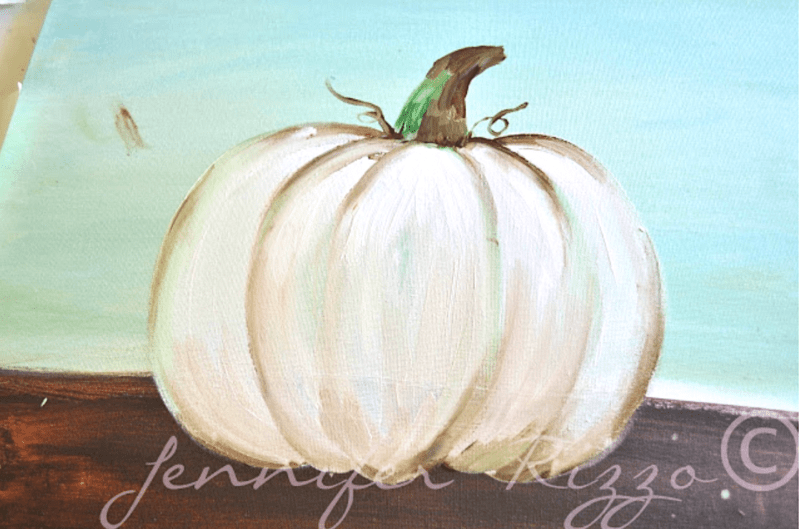 How to paint a pumpkin canvas
