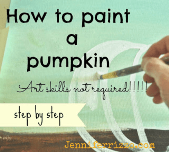 How to paint a pumpkin canvas no art skills required