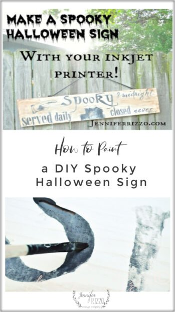 How to paint a spooky Halloween sign with your printer
