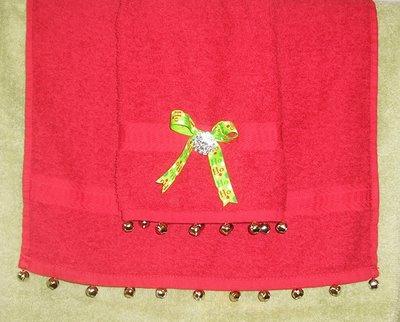 Sewing craft,make cute jingle bell guest towels