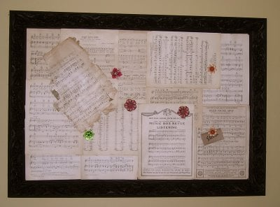 Turn an old picture into a bulletin board tutorial
