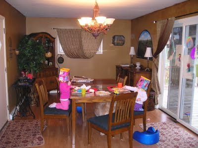 Dining room before and after…using every square foot….