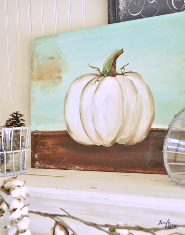 Painted canvas for fall