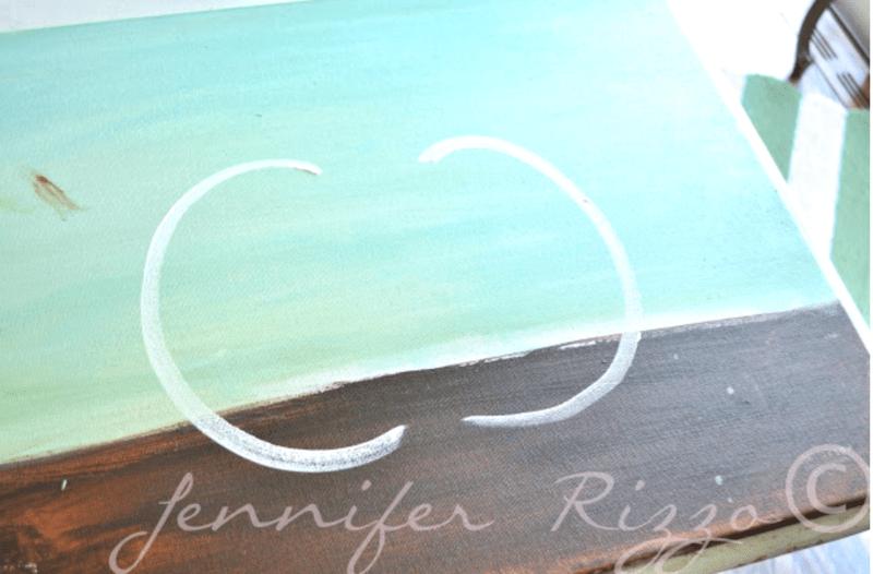 Starting to paint a pumpkin shape