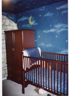 The Evolution of a Baby Nursery Mural