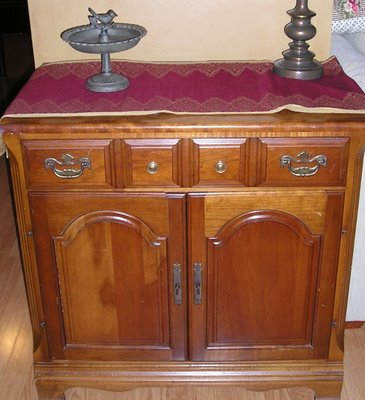 Cabinet make-over, I'm not crowning around (Okay, they can't all be winners…)…