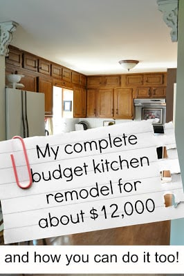 My complete kitchen remodel story for about $12,000….