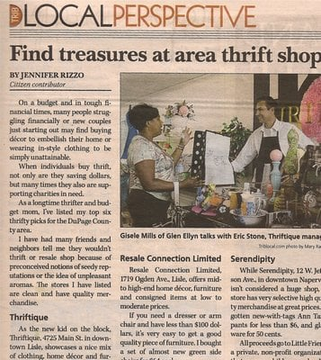 Finally Published and The Best Thrift Store Shopping in DuPage County