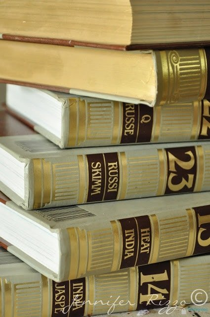 Repurpose Old Encyclopedia S Into Aged Display Books