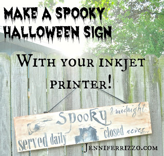 Make a Spooky Wood Halloween Sign with your Inkjet Printer…..