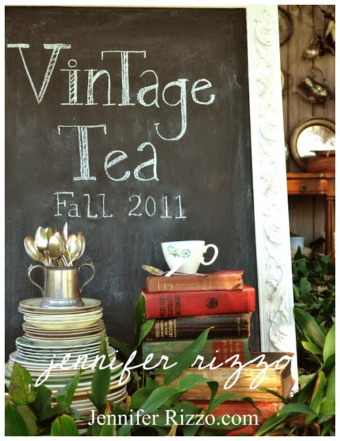 Vintage Tea colelction Jennifer Rizzo