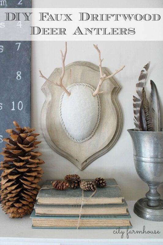 Very cool DIY faux driftwood deer antlers…