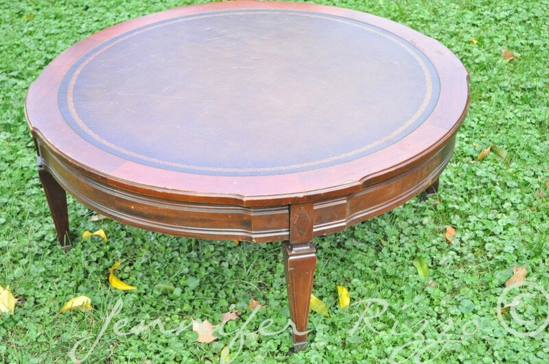 Turn a vintage coffee table into a tuftedupholstered ottoman
