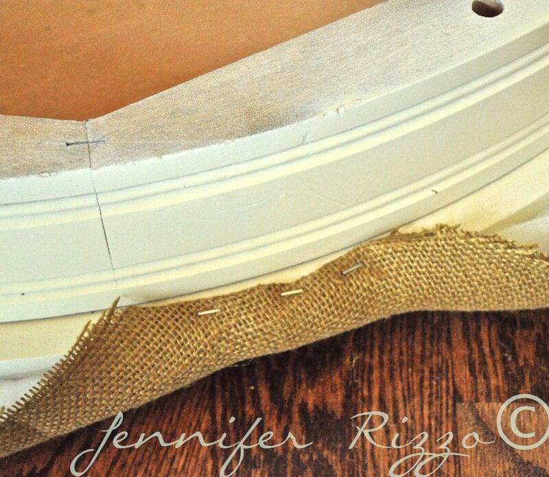 use astaple gun for teh edge of your tufted ottoman
