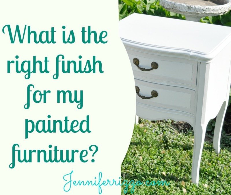What Is The Right Finish For My Painted Furniture Paste Wax On Vs