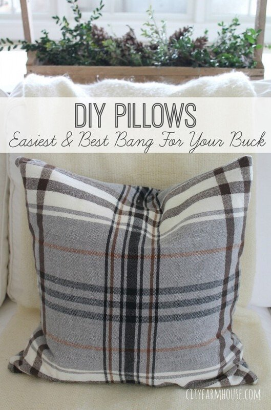DIY plaid pillows from a wool throw...... - Jennifer Rizzo