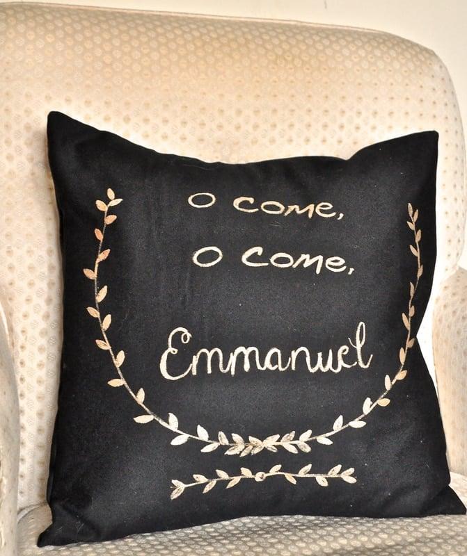 gold on black for the holidays how to make a west elm. Black Bedroom Furniture Sets. Home Design Ideas