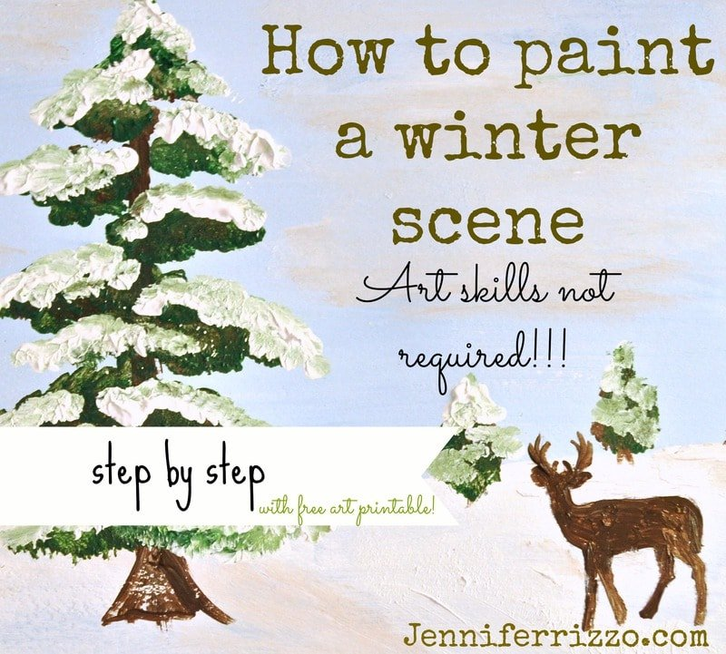 How to paint a winter sceneArt skills not required