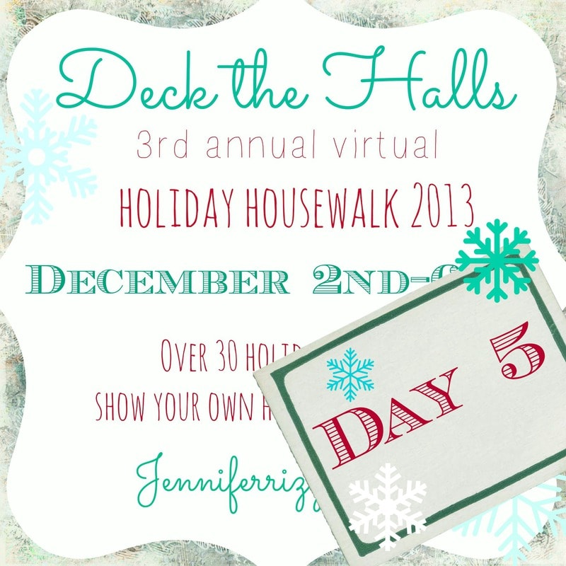Day 5 holiday house walk…A week of holiday decorating…..!!!