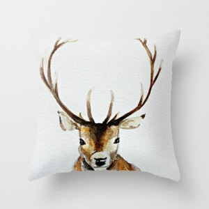 Stag head pillow cover