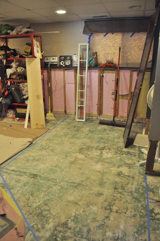 The beginning basement rehab…..