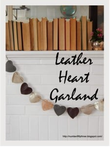 Heart banner made form Leather scraps