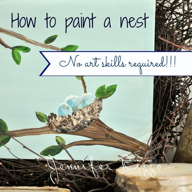 Just in time for Spring! Step by step how to paint a nest, no art skills required!…