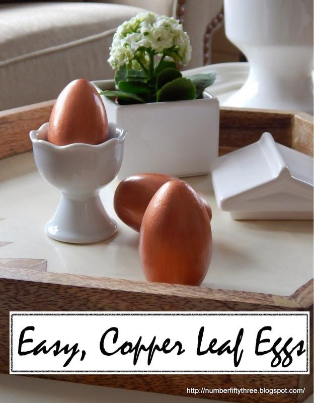 Easy copper leaf eggs…