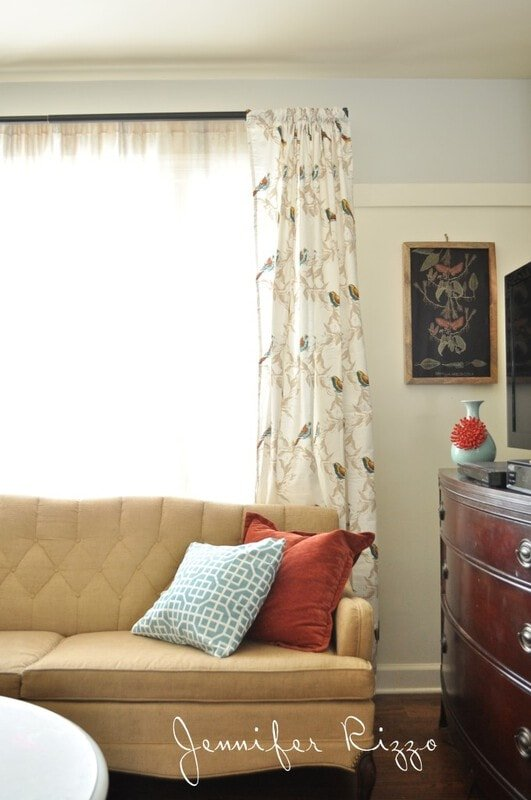 Cute Curtains made from Target tablecloths