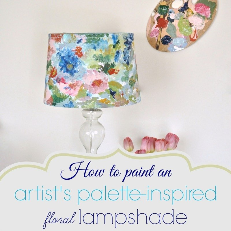 How to paint an artists palette inspired floral lampshade how to paint an artists palette inspired floral lampshade jennifer rizzo aloadofball Image collections