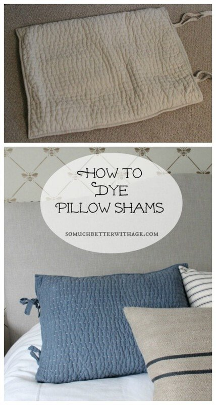 How to Dye Your Pillow Shams for an Instant Update…..
