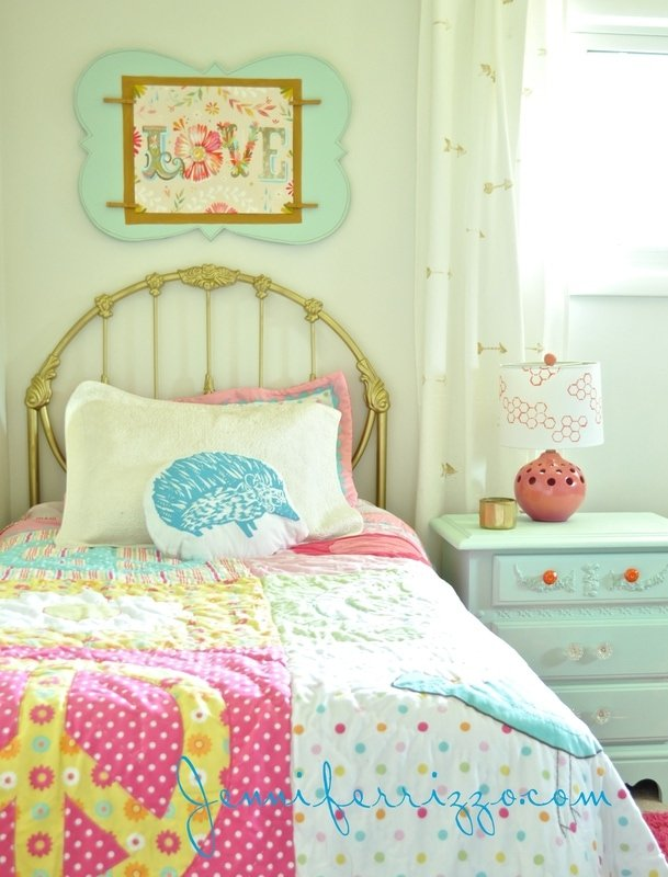 Bright And Colorful Girl S Bedroom Makeover Jennifer