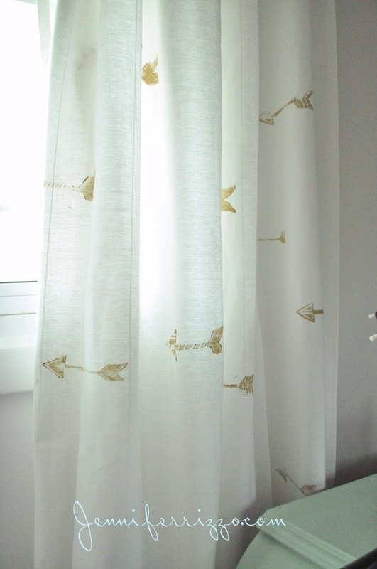Hand Stamped Custom Gold Arrow Curtains Jennifer Rizzo