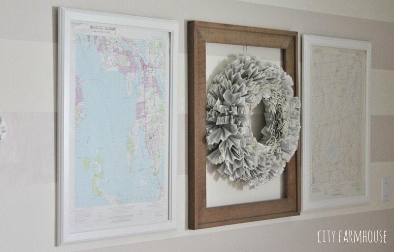 10 minute DIY map art…..