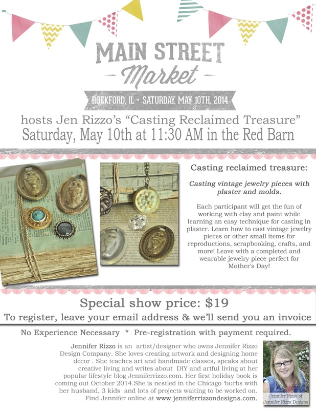 Come visit me for a plaster casting class at Urban Farmgirls' Main street market……
