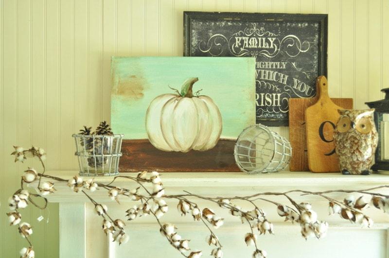 Make this cute pumpkin painting DIY!