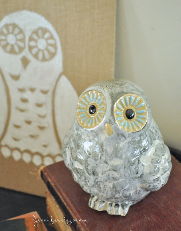 How to paint an owl silhouette on burlap art