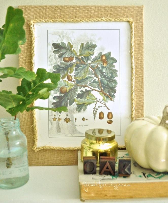 Oak Leaf Inspired Vignette and Oak Leaf Printable
