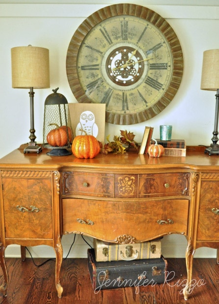 Buffet with fall decor