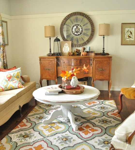 Love the rug in the living room!
